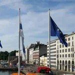 #Helsinki now flying a flag for our common Europe! #WeAreEurope @joensuucalling https://t.co/qlbTCP2BXl https://t.co/TGNiA4n5cl