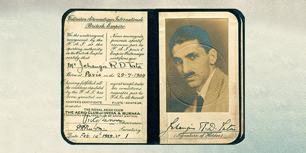 #JRDTata received his pilot licence—the first issued to an Indian—in 1929. It was marked No. 1 https://t.co/hVsMHgfn0k
