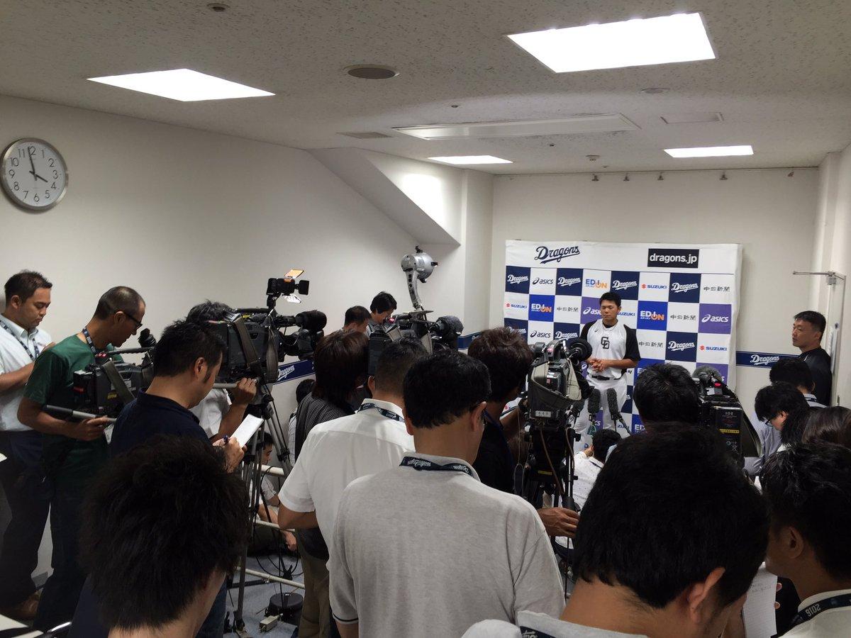 ファンも報道陣も大注目の高橋周平選手復帰戦です!「頑張れと言われたので、とにかく頑張ります」多くは語…