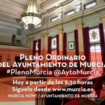 Sigue en directo el Pleno Ordinario del Ayuntamiento de Murcia desde https://t.co/bSBy7mKSC6 📡 https://t.co/HJVIvb7kWW
