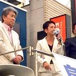民進党代表代行の蓮舫さん( @renho_sha )「みなさんの税金をジャブジャブ財政出動して、保育や介護の大切な問題は後回し。国がやらないなら、鳥越さんに、東京に、やってもらいましょう!」全力で応援です。 #鳥越GO #都知事選 https://t.co/dBHjzK5gmu