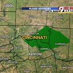 "NEW: Flood advisory for Clermont , Kenton & Campbell County until 8AM. 1-1.5"" of rain has fallen. @wcpo #cincywx https://t.co/F3n1TMUgQQ"