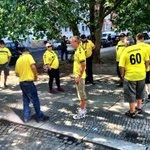 #Hertha vs. #Bröndby: Fans sind da, es wird bunt in #Berlin #PrenzlauerBerg. https://t.co/rlKQ99R8sI #BSCBIF #Hahohe https://t.co/64x1MTAb0v