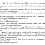 """The UK has a """"rigged economy"""" that only works for the privileged few. Here are 15 policies from Corbyn to fix that https://t.co/9wlbE7mfKt"""