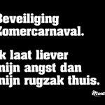 *Beveiliging Zomercarnaval. Ik laat liever mijn angst dan mijn rugzak thuis.* #zomercarnaval #rugzak #mwahnl https://t.co/5KW3rVwJts