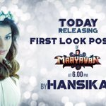 #Maayavan s 1st look poster will be launched by the lovely @ihansika at 6 pm today :) @Itslavanya  @icvkumar https://t.co/hcBxZmQz57