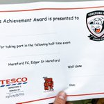 The certificate each @HFCJuniorBulls mascot will receive at every @HerefordFC MatchDay sponsored by us 👍🏻#Community https://t.co/Z2wsxauYZk