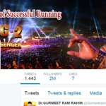 @Gurmeetramrahim Heartiest Congratulations Almighty g ,on completing 2M. followers !!! #MSGsaysLeaveJealousy https://t.co/fTZlL0crlW
