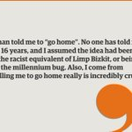 """Heres @MrNishKumar on being told to """"go home"""" post-#Brexit vote https://t.co/mDcQsBh2cy https://t.co/jxGHROjuFB"""