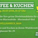 Samstag Nachmittag schon was vor? Kaffee & Kuchen und gute Gespräche über Politik & Co. in der @HildburghsStr29 https://t.co/mgWpczW2sk
