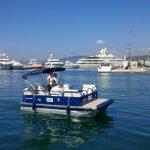 Solarboat à laccueil à #Cannes Canto, 1er port de France équipé dun bateau électro -solaire. #CotedAzurNow https://t.co/5aHdfxXeMs