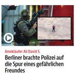 Amokläufer Ali S. Berliner brachte Polizei auf Spur eines gefährlichen Freundes https://t.co/aKXTdg2RS9 @bzberlin https://t.co/wVIVldudUo