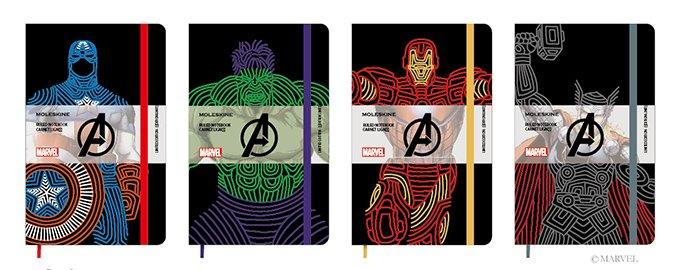 モレスキンよりアベンジャーズコラボの限定ノート発売 - アイアンマンら4人のキャラクターをデザイン …