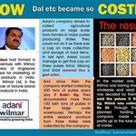 This picture explain correlation between Adani and Daal like products price hike #ArharModi https://t.co/xPrX8UTM4D