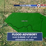 New flood advisory until 9:45 a.m. for north central Boone and northwestern Hamilton counties. @wcpo #cincywx https://t.co/HSYfoD9oxX