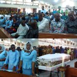 The mass funeral of Stephen Keshi is going on now in Benin, Edo state. See pictures https://t.co/lQc6Gy7J2w