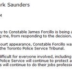 Police chief Mark Saunders issues statement on #Forcillo sentence: https://t.co/xX3ZhqjIYV