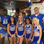 .@MT_FB squad at the @mcdonalds on Memorial Boulevard for lunch! Stop by and say hello. #TrueBlue #BlueRaiders https://t.co/gtburvLP7V