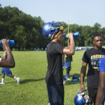 Oscar Smith players were told to stay hydrated as they ran through drills today. https://t.co/l9J5EE2wvb