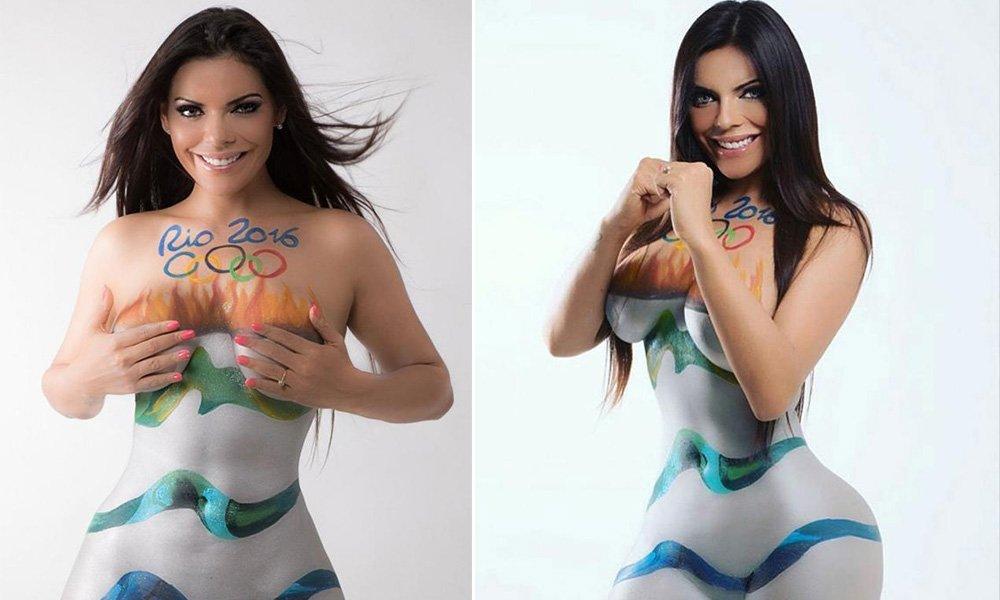 RT @periodicoam: Suzy Cortéz, #MissBumBum, publica body paint por las Olimpiadas de #Brasil junto a Playboy. https://t.co/RyjuCK8Xyy https:…