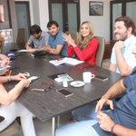 Hacemos equipo con @ClaraLuzRoldan para avanzar en la organización de @JuegosBaq2018. https://t.co/8oJNrSiQCc