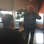 """NDP MLA Tom Lindsey tells Churchill residents to """"stick together"""" and build up public support to save port. #cbcmb https://t.co/hSANweqlRi"""