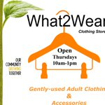 What2Wear Clothing Store @ Centre 2day 10am-1pm. Gently-used clothing & accessories. #ldnont https://t.co/CYnJAeJphv https://t.co/ey2CFwEgYG