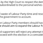 I welcome the decision by the High Court to respect the democracy of the Labour Party. https://t.co/XVF3lxYlmm