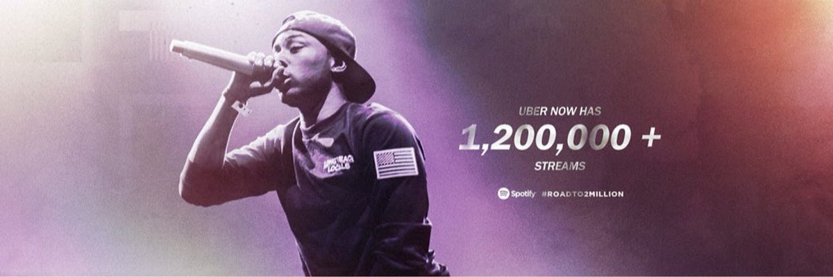 2,000,000 on the way.  @Spotify & @CliffSavage