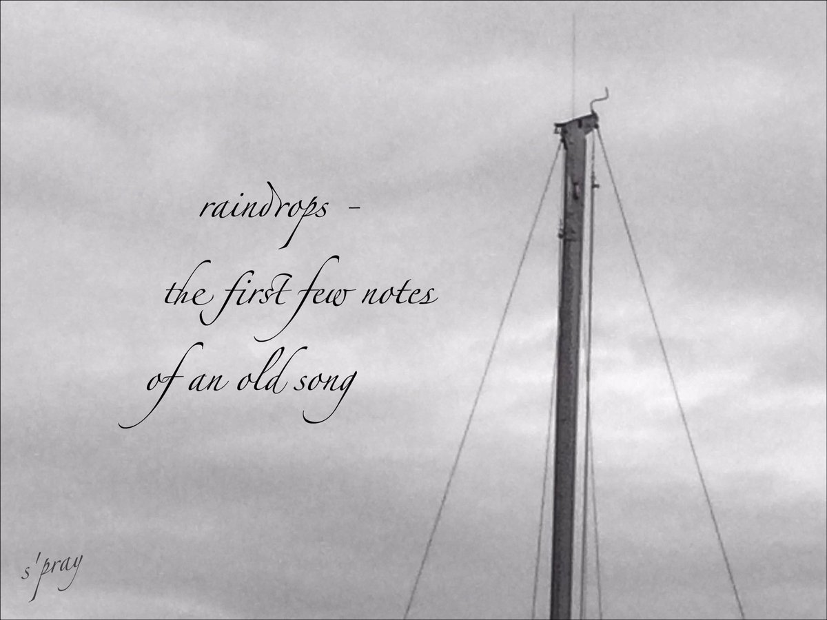 raindrops - the first few notes of an old song  #haiku #senryu #nahaiwrimo https://t.co/mwBAbYUDVo