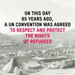 Its 65 years since the 1951 Refugee Convention was agreed. RT to show you still #StandAsOne with refugees worldwide https://t.co/5YXeZf7RCa