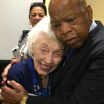 When John Lewis met the 102-year-old delegate at the DNC https://t.co/UCO78SwQiJ #gapol https://t.co/JhFIiqHNg3