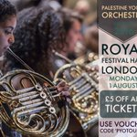 #Promo code for #London @southbankcentre.Last #Palestine Youth Orchestra concert on 1st Aug! You will not forget it! https://t.co/SEfuh3wmoq