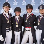 Heres another shot of our Silver Medal Dressage Team at the 2016 NAJYRC in Parker, CO, yesterday. #Canada #Dressage https://t.co/bSBFHasTAg