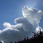 5000RT:【魔法のよう】心臓病の子ども支援のイベント中、「プーさん」そっくりの雲が! https://t.co/bxnJhjJJdW はっきりとした手足があり、尖った鼻や耳、笑った口など顔の造作まで見て取れ、クマのプーさんに… https://t.co/fnWJxJazYT