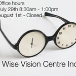 Civic Holiday Hours. July 29th 8:30am - 1:00pm August 1st - Closed #Barrie #longweekend https://t.co/Qm1KN6LXiL