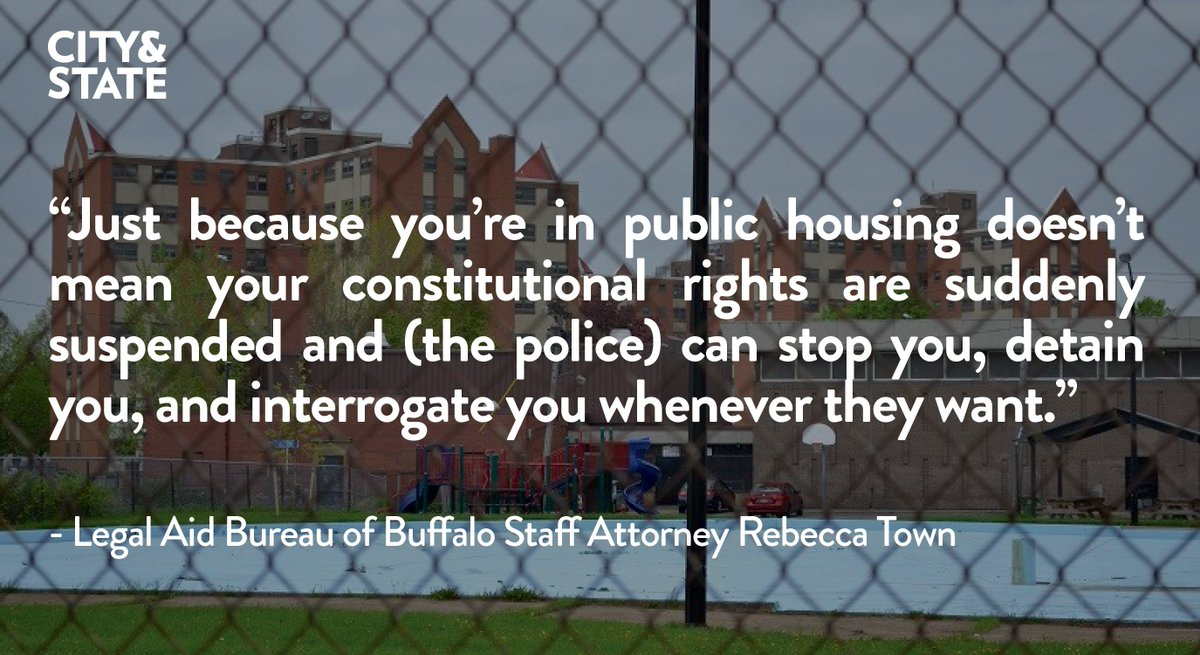 "Buffalo's public housing tenants are bearing the brunt of ""zero tolerance"" police policies https://t.co/HwZf3QlSVd https://t.co/KgefOzRRDg"
