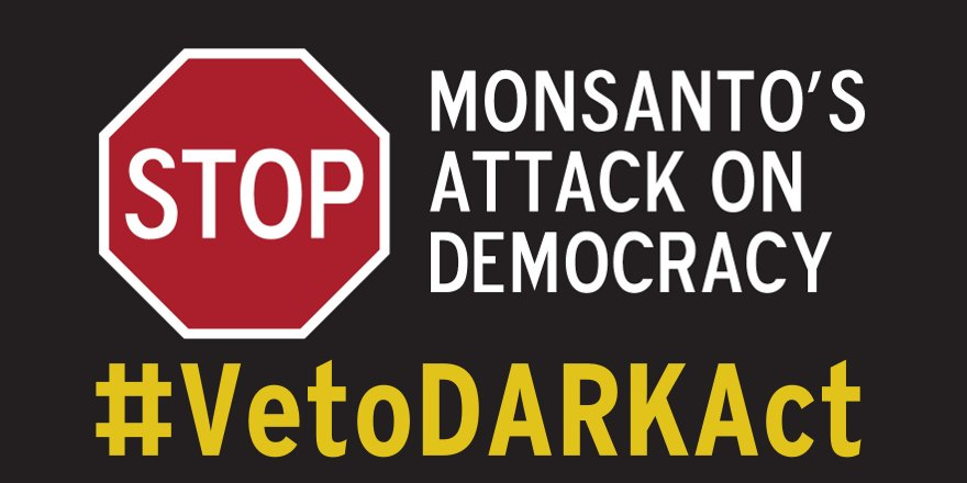 .@POTUS #vetoDARKact! We are NOT Roundup Ready! Label GMOs! QR codes are not labels! https://t.co/6vYi2uOlNz
