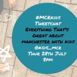 We hope you can join us for our tweet chat at 8pm. Talking all things kid and family friendly in #Manchester! https://t.co/re4fBQspVl