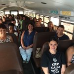 All aboard for the new teachers tour of the district! Veterans Sharon Hargrave & Hollie Osteen are tour guides. https://t.co/UpL0Paxr14