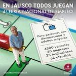 4° Feria Nacional del Empleo para personas con discapacidad y adultos mayores Jalisco busca el #BienestarSocial https://t.co/d0oMw2PLpV