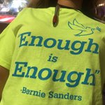 Told shirts on floor ordered wks ago, arrived over wkend. These Sanders delegates plan to be seen, they glow in dark https://t.co/70mxQpovRO