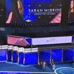 AU alumna @SarahEMcBride just became the first openly transgender person to speak at a major party convention https://t.co/JdmheA4buo