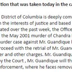 DC USAO: Ingmar Gunadique, whose conviction for the murder of Chandra Levy was reversed, will not be retried. https://t.co/ZXJuRQYMH0