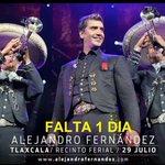 Falta 1 día!! Para show de #AlejandroFernandez en Tlaxcala!! No se dejen engañar el evento está 100% CONFIRMADO!! RT https://t.co/f1lutriBkw