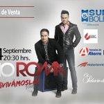 24/09 CCU - Se parte del #VivámosloTour con el dúo romántico del momento @RioRomamx ¡Corre por tus boletos! https://t.co/C6kH67JTDk