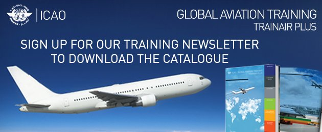 Sign up for our newsletter to download the ICAO GAT Course Catalogue!
