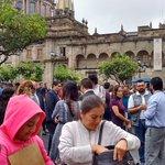 En Palacio de Gobierno se realiza evacuación de personal tras sismo. @PCJalisco no reporta daños hasta el momento. https://t.co/GBBvicTlpN