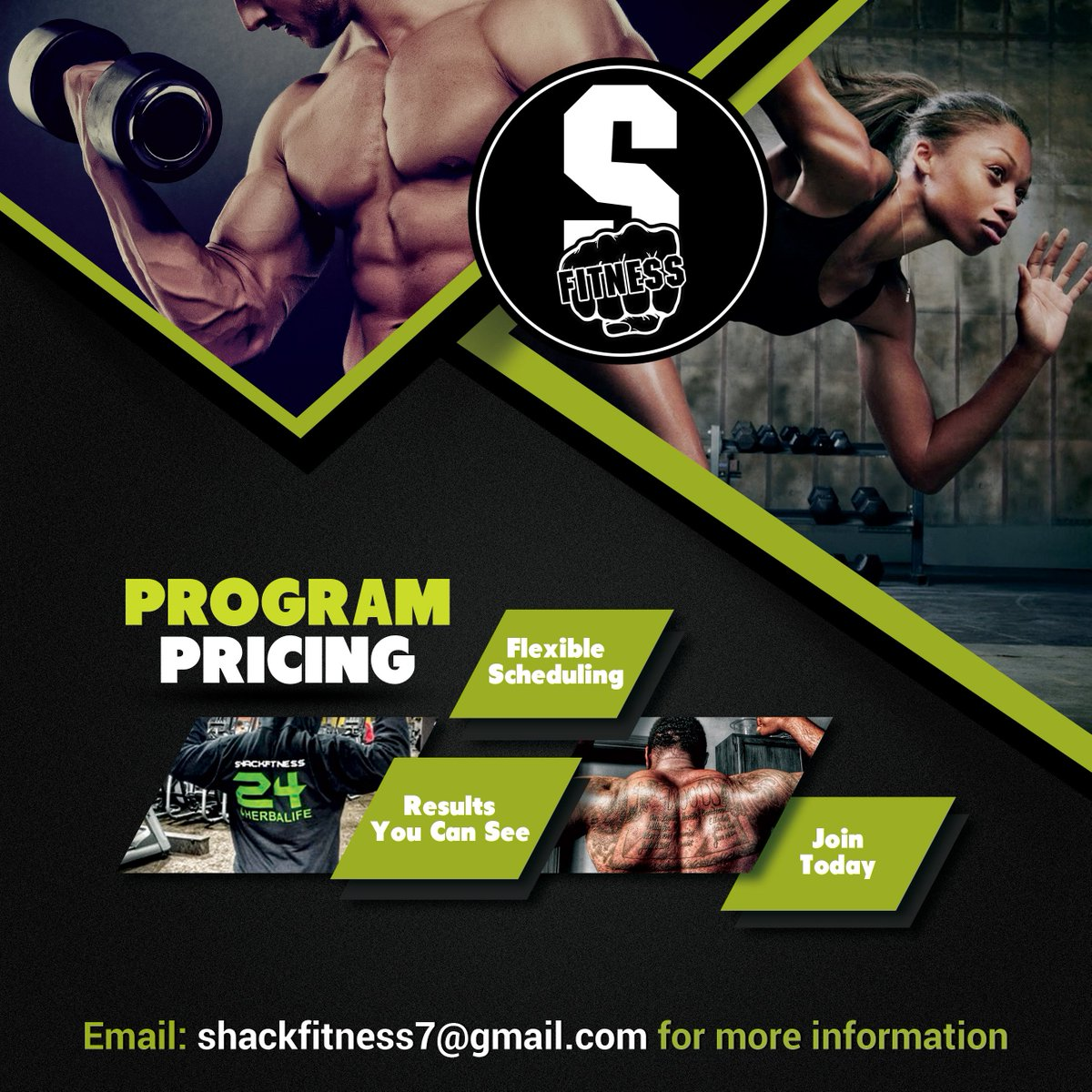 Flyer Design: #ShackFitness ... Contact @J_Shack for more information https://t.co/h8MaDzkecl