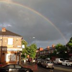 Beautiful rainbow over Beech Road #Chorlton #Manchester #BritishSummer #rainbow #beechroad https://t.co/an48tYjJQJ